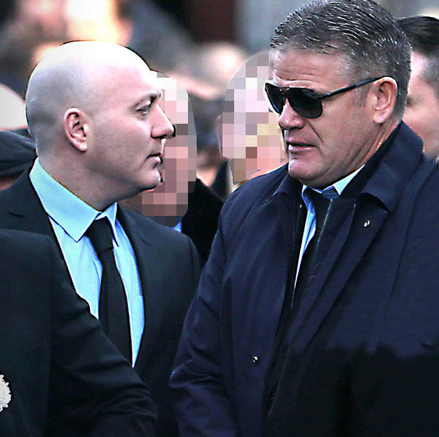 Thomas 'Bomber' Kavanagh at David Byrne's funeral