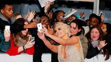 Singer Rita Ora arrives for the BRIT music awards at the O2 Arena in Greenwich, London