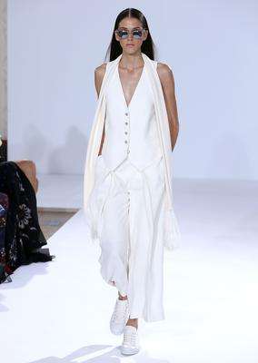 A model walks the runway at the Temperley London show during London Fashion Week Spring Summer 2015