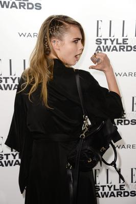 Model Cara Delevingne attends the Elle Style Awards 2014 at one Embankment on February 18, 2014 in London, England.  (Photo by Ian Gavan/Getty Images)