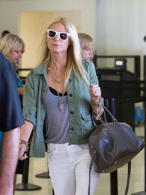 LOS ANGELES, CA - AUGUST 12:  Gwyneth Paltrow arrives at LAX (Los Angeles International Airport) on August 12, 2012 in Los Angeles, California.  (Photo by GVK/Bauer-Griffin/GC Images)