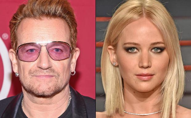 Bono has praised Jennifer Lawrence for speaking out against the pay gap in Hollywood