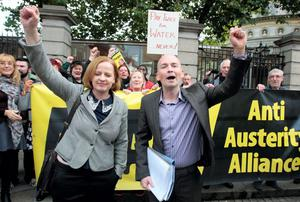 Socialist Party TD Ruth Coppinger, with fellow TD, Paul Murphy has suggested the next demonstration on December 10 might become an unofficial national strike