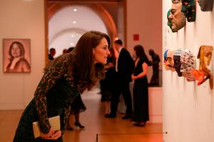 Britain's Catherine, Duchess of Cambridge views artworks during the 2017 Portrait Gala, at the National Portrait Gallery in London on March 28, 2017