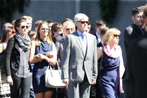 Mourners at the funeral of Berkeley tragedy victim Eoghan Culligan at the Church of the Annunciation, Rathfarnham.