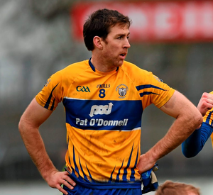 """Clare football captain Gary Brennan, who has excelled during Ballyea's remarkable run and scored the all-important goal against Thurles Sarsfields, is one of many players to sing the praises of Liddy for """"first putting a hurl in my hand"""". Photo: Stephen McCarthy / Sportsfile"""