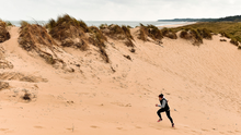 Running to stand still: 'You're either going to waste this time now or you're going to use it and come out the other end better,' says Irish sprinter Phil Healy from her training base near Curracloe in Wexford, after it was confirmed that the 2020 Olympics are to be postponed until next year. Photo: Sam Barnes/Sportsfile