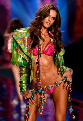 Model Izabel Goulart walks the runway during the 2014 Victoria's Secret Fashion Show at Earl's Court Exhibition Centre on December 2, 2014 in London, England.  (Photo by Dimitrios Kambouris/Getty Images for Victoria's Secret)