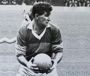 Mick O'Dwyer in action in 1964; beaten by Galway that year he helped Kerry football rise again. Photo: Connolly Collection/SPORTSFILE