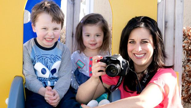 Lucy Kennedy and her children Holly (3) and  Jack (5) launching National Portrait Week for LauraLynn Ireland's Childrens Hospice, in association with Canon Ireland
