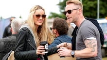 Ronan Keating and girlfriend Storm Uechtritz backstage at the Isle of Wight Festival, in Seaclose Park, Newport, Isle of Wight. PRESS ASSOCIATION Photo. Picture date: Sunday June 14, 2015. Photo credit should read: Yui Mok/PA Wire