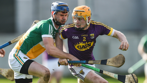 Wexford's Simon Donohoe in action against Sean Cleary of Offaly. Photo: David Maher/Sportsfile