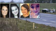 Victims identified as (from left to right) Niamh Doyle, Ashling Middleton, Gemma Nolan, and Chermaine Carroll