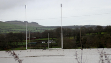 A flooded hurling pitch in Inistioge. Credit: Paul Doyle Photography