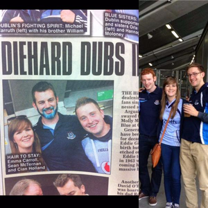 'I made the headlines cause I'm a diehard Dub!Would be a dream come true to be there on Sunday' Credit: Emma Jane Carroll via Twitter