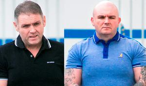 Brian Collopy (left) and Kieran Collopy at Limerick District Court, where they were both sentenced to eight years in jail