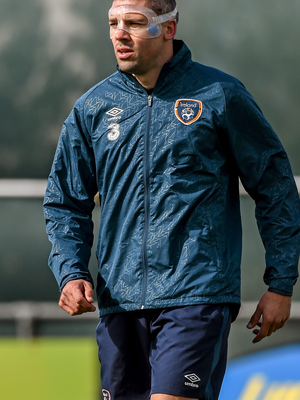 Jonathan Walters, pictured during training, is ready to face Scotland today