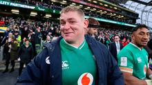 Ireland's Tadhg Furlong smiles following the 24-14 win over Wales in the Six Nations. Brian Lawless/PA Wire.