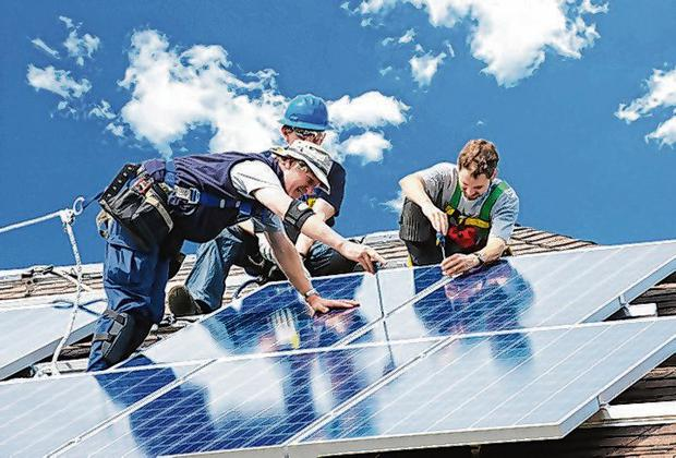 Through the roof: Interest in installing solar has soared, requiring a near doubling of the funding for solar panel grants for 2020. Photo: Steve Humphreys