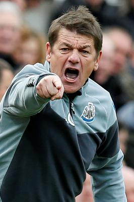 Newcastle manager John Carver makes his feelings known