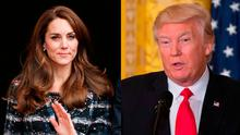 Kate Middleton, left, and Donald Trump, right