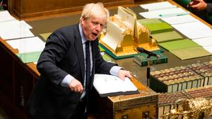 Britain's Prime Minister Boris Johnson speaking in the House of Commons. Photo: AFP/Getty Images