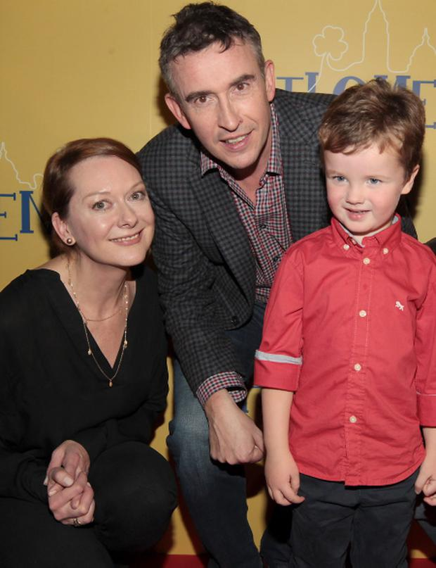 Actor Tadhg Bowen (4) who plays young Anthony with Cathy Belton and Steve Coogan tonight at The Irish Gala Screening PHILOMENA A FILM BY STEPHEN FREARS at The IFI in Eustace Street Dublin Pix Brian McEvoy