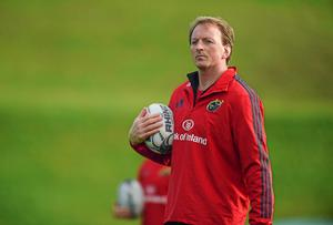 Having already fallen behind Pool 3 pace setters Worcester Warriors, Munster A coach Mick O'Driscoll knows that his side must win against Nottingham. Photo: Diarmuid Greene / SPORTSFILE