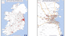Confirmed Cases of COVID-19 in the Republic of Ireland Mapped as at 13th April 2020