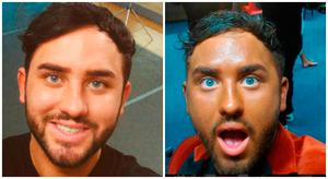 Before and after. Hughie Maughan
