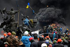 Anti-government protesters continue to clash with police in Independence square