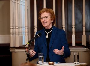 Former Irish President Mary Robinson said developed nations should go vegetarian to help fight climate change.
