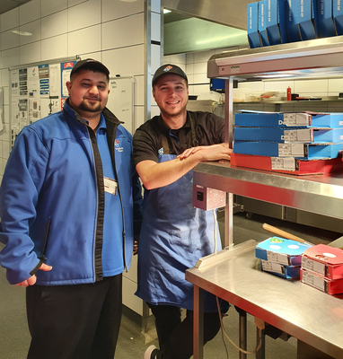 Beaumont staff got salads from Chopped; Domino's sent pizzas to Tullamore Hospital