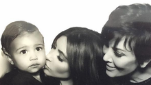 Three generations: Kim Kardashian with her daughter North and her mother Kris Jenner. Photo: @KimKardashian/Twitter