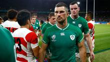 Ireland's Rob Kearney looks dejected after the match