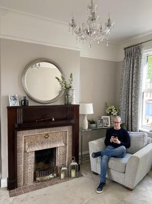 Best laid plans: Dermot Mulligan in the front living room. Photo: Bryan Meade