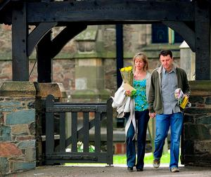 File photo dated 3/5/2008 of Kate and Gerry McCann leave St. Mary & St. John Rothley Parish Church, Rothley, Leicestershire, after a service to mark the first anniversary of their daughter Madeleine's disappearance in Praia Da Luz, Portugal:  Rui Vieira/PA Wire