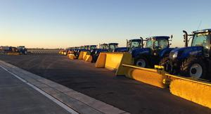 The New Holland tractors at Dublin Airport. Picture: Dublin Airport