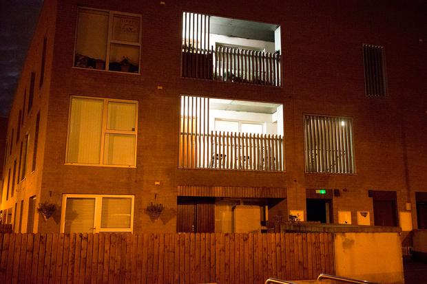 Dublin Fire Brigade tend to a fire at an apartment at Domville Woods in Santry. Picture: Arthur Carron