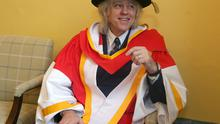 14/1/2019, Sir Bob Geldof smiles before receiving an Honorary Doctorate from the University of Limerick. Picture credit; Damien Eagers / INM