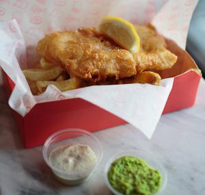 Fish and chips in Dungarvan