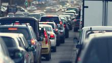Nose to tail: Traffic jams are getting worse in the capital. Stock photo