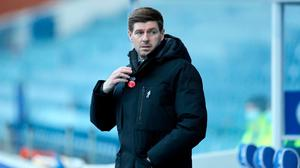 Rangers manager Steven Gerrard during the Scottish Premiership match at Ibrox Stadium, Glasgow.