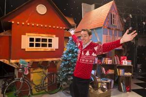 Ryan Tubridy is pictured revealing the set for this years The Late Late Toy Show - and it promises to be Truly Scrumptious!