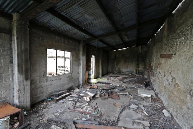 The derelict building where Anna Kriegel's body was discovered.