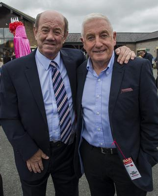 Wednesday 30 April 2014. Punchestown Races, L to R: Former premier league managers Howard Kendall and Roy Evans.