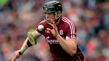 A goal from Joseph Cooney proved to be the key for Galway in Rathdowney. Photo: Piaras Ó Mídheach/Sportsfile