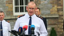 Chief Superintendent Christopher Mangan during a media briefing following the conclusion of the trial of Aaron Brady in relation to the murder of Detective Garda Adrian Donohue today at Garda Headquarters, Dublin. Photo: Gareth Chaney/Collins
