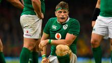 Jamie Heaslip cuts a disappointed figure after Ireland's defeat to Wales in Cardiff. Photo:  Stu Forster/Getty Images