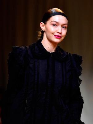 Gigi Hadid walks the runway during the H&M Studio show as part of the Paris Fashion Week on March 1, 2017 in Paris, France.  (Photo by Pascal Le Segretain/Getty Images)